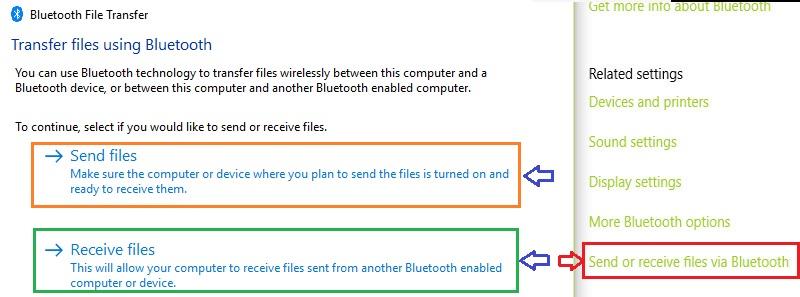 Bluetooth Send/Receive files