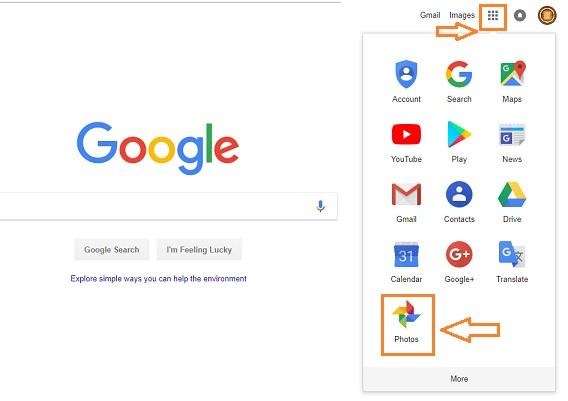 google photos on laptop