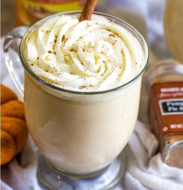 white chocolate pumpkin cocoa