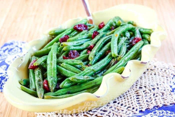 Cranberry Orange Green Beans