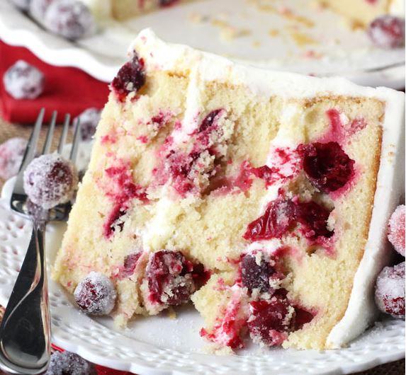 cranberry white cake