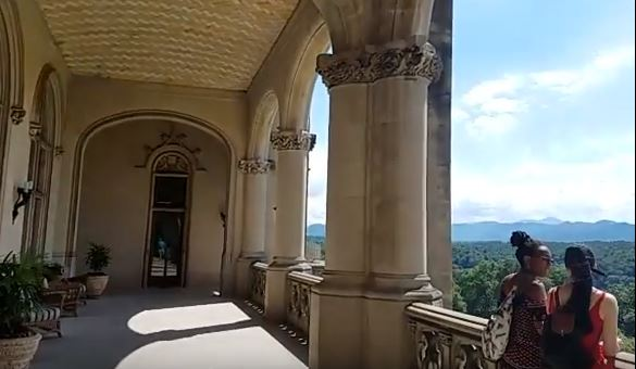 Balcony view at Biltmore Estate in Asheville, NC