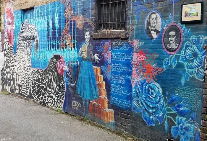 Chicken Alley Mural in Asheville NC