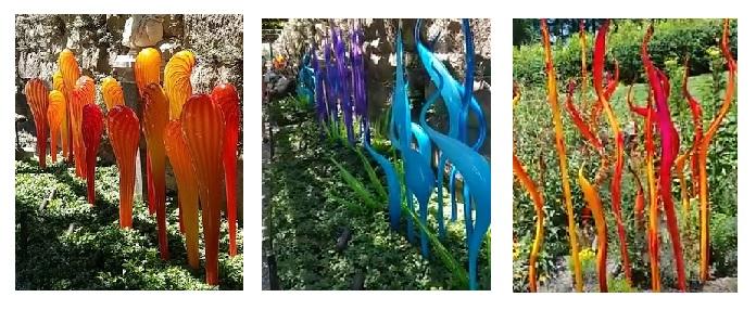 Chihuly glass sculptures - Biltmore Estate - Asheville, NC