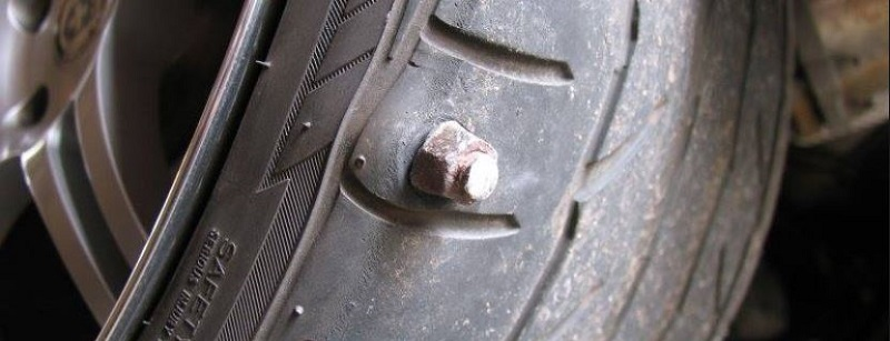 screw too big to fix in tire