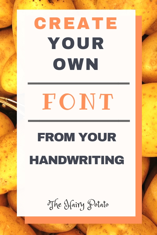 create your own font