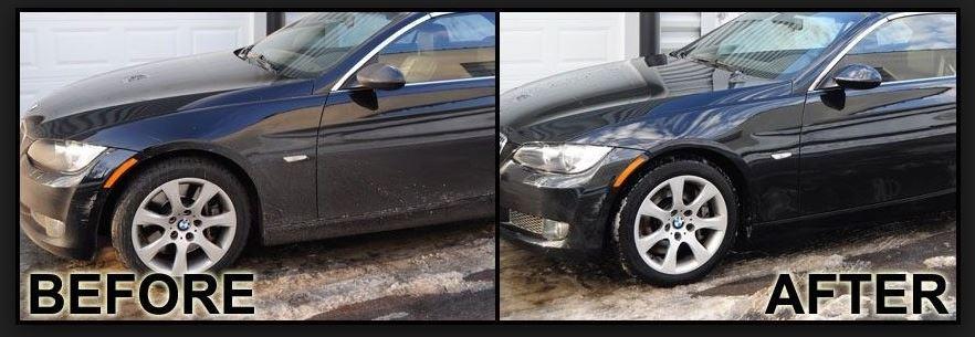 pressure washed car