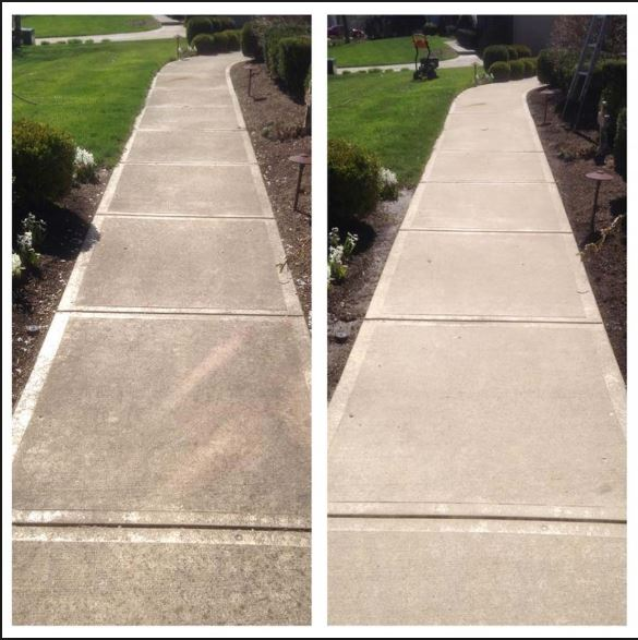 pressure washed concrete